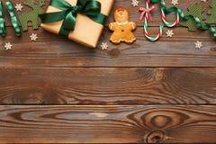 Het heden en de decoratie van Kerstmis Royalty-vrije Stock Fotografie