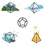 Het heelal van vormenelementen vector illustratie