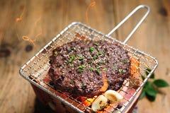 Het heerlijke eigengemaakte Grote rundvlees van tteokgalbigounod met Solsol-klusje stock fotografie