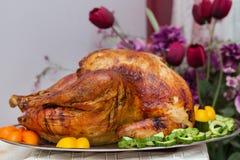 Het heerlijke Extravagante Diner van Dankzeggingsturkije Royalty-vrije Stock Afbeelding