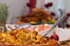 Het heerlijke Extravagante Diner van Dankzeggingsturkije Royalty-vrije Stock Afbeeldingen