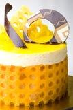 Het heerlijke gebakje van de de moussecake van het citroenfruit stock afbeelding