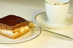 Het heerlijke kijken de plak van de chocoladecake Royalty-vrije Stock Afbeelding