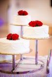 Het heerlijke smakelijke detail van de huwelijkscake Royalty-vrije Stock Afbeeldingen