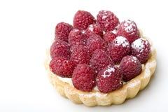 Het heerlijke verse gebakje van de frambozenvlaai stock afbeelding
