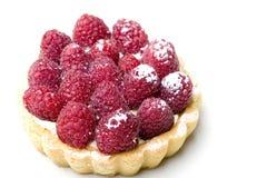 Het heerlijke verse gebakje van de frambozenvlaai stock foto's