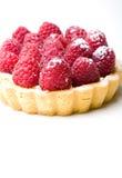 Het heerlijke verse gebakje van de frambozenvlaai stock foto