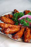 Het heerlijke voedsel van China--gebraden kippenvleugels Royalty-vrije Stock Fotografie
