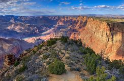 Het heerlijke Woestijnweergeven, Woestijnweergeven overziet, het Nationale Park van Grand Canyon, Arizona, de V.S. stock fotografie