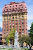 Het Heerschappijgebouw en Victory Square royalty-vrije stock afbeeldingen