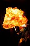 Het heethoofd toont van de Opera van Sichuan stock afbeeldingen