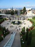 Het heiligdom en de treden van Haifa Israel van Bahaituinen stock afbeeldingen