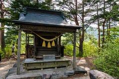 Het heiligdom op het meningspunt van shirakawa-gaat royalty-vrije stock fotografie