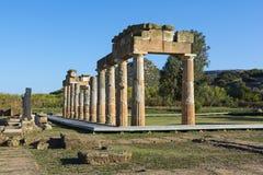 Het heiligdom van Artemis in Brauron, Attica - Griekenland Stock Foto