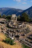 Het Heiligdom van Athena Pronaia in Delphi, Griekenland Royalty-vrije Stock Foto's