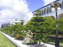 Het heiligdom van Bahai in acre stock afbeeldingen