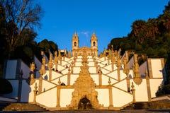 Het heiligdom van Bom Jesus doet Monte de Braga stock fotografie