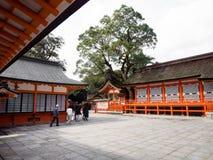 Het Heiligdom van de V.S. in de prefectuur van Oita, Japan stock foto's