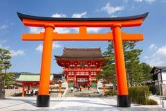 Het Heiligdom van Fushimiinari, Kyoto, Japan Stock Foto's