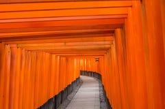 Het Heiligdom van Fushimiinari Taisha Stock Foto