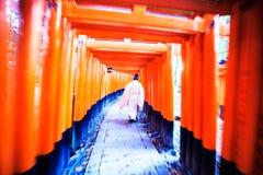 Het Heiligdom van Fushimiinari Taisha Royalty-vrije Stock Fotografie