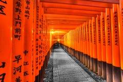 Het Heiligdom van Fushimiinari Taisha in Kyoto, Stock Foto's