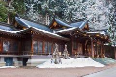 Het Heiligdom van Hachimangu van Sakurayama stock foto