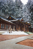 Het Heiligdom van Hachimangu van Sakurayama, Hida, Takayama, Japan stock afbeeldingen