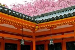 Het Heiligdom van Heian in Kyoto, Japan Stock Foto