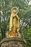 Het Heiligdom van heilige Anne ` s, Eilandenla motte, een eiland in Meer Champlain, Grote Eilandprovincie, Vermont, Verenigde Sta stock foto
