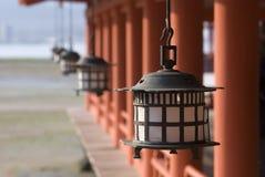 Het Heiligdom van Itsukushima, Miyajima, Japan Stock Foto