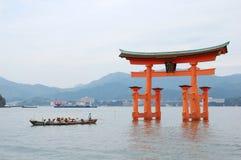 Het Heiligdom van Itsukushima op het Eiland Miyajima Royalty-vrije Stock Fotografie