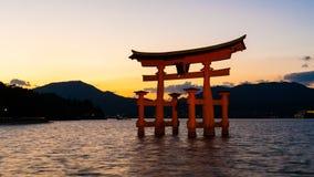 Het Heiligdom van Itsukushimashinto, Hiroshima, Japan Stock Foto's