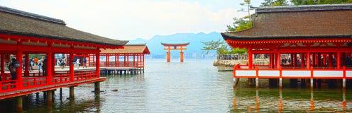 Het Heiligdom van Itsukushimashinto, Miyajima, Japan Royalty-vrije Stock Foto's