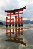 Het heiligdom van Itukushima Stock Afbeelding