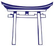 Het heiligdom van Japan vector illustratie