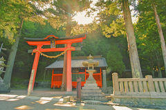 Het Heiligdom van Japan bij arai is een kleine stad in de Prefectuur Japan van Nagano Stock Foto