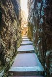 Het Heiligdom van Montagnaspaccata in Gaeta, provincie van Latina, Lazio, centraal Italië stock foto's