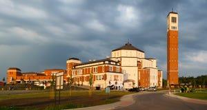 Het Heiligdom van pausjohannes paulus ii in Krakau, Polen De wereldjeugd Dag 2 Stock Afbeeldingen