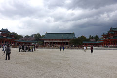 Het Heiligdom van Shintoshimogamo, Kyoto, Japan Stock Foto