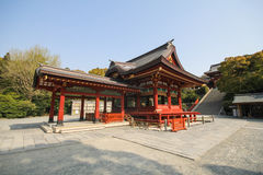Het heiligdom van Tsurugaokahachimangu, Kamakura, Japan Stock Afbeelding