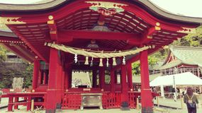 Het Heiligdom van Tsurugaokahachimangu Shinto in Japan Royalty-vrije Stock Foto's