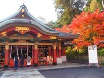 Het heiligdom van Yutokuinari in Saga, Japan stock foto's