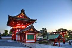 Het Heiligdomingang van Fushimiinari, Kyoto Stock Foto's