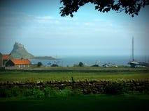 Het Heilige Eiland Lindisfarne Stock Afbeeldingen