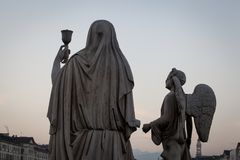 Het Heilige Grail standbeeld royalty-vrije stock fotografie
