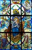 Het heilige Kind Jesus en Joseph van de Moeder Stock Afbeeldingen