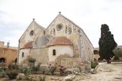 Het Heilige Klooster Arkadi in Kreta stock afbeeldingen