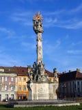 Het heilige Monument van de Drievuldigheid - Timisoara, Roemenië stock foto