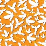 Het heilige naadloze patroon van de vogelsduif Stock Fotografie